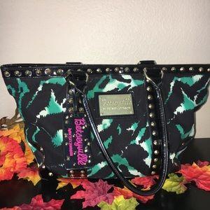 Betseyville by Betsey Johnson Green Teal Zebra Bag